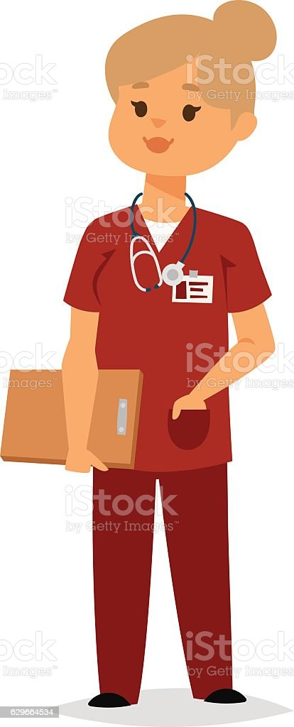 Doctor character vector isolated vector art illustration