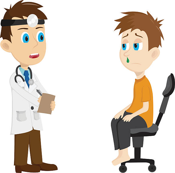Royalty Free Doctor Visit Adult Clip Art, Vector Images ...
