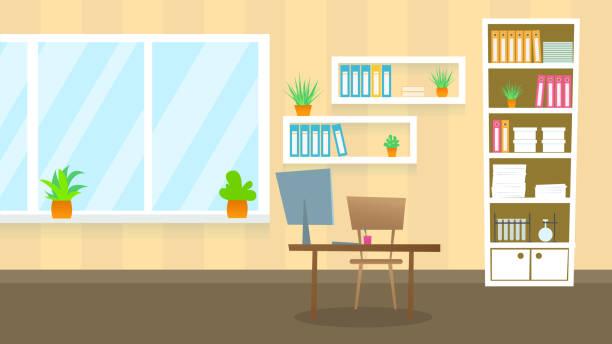 ilustrações, clipart, desenhos animados e ícones de escritório de exame médico. ilustração de lisa. - consultório médico
