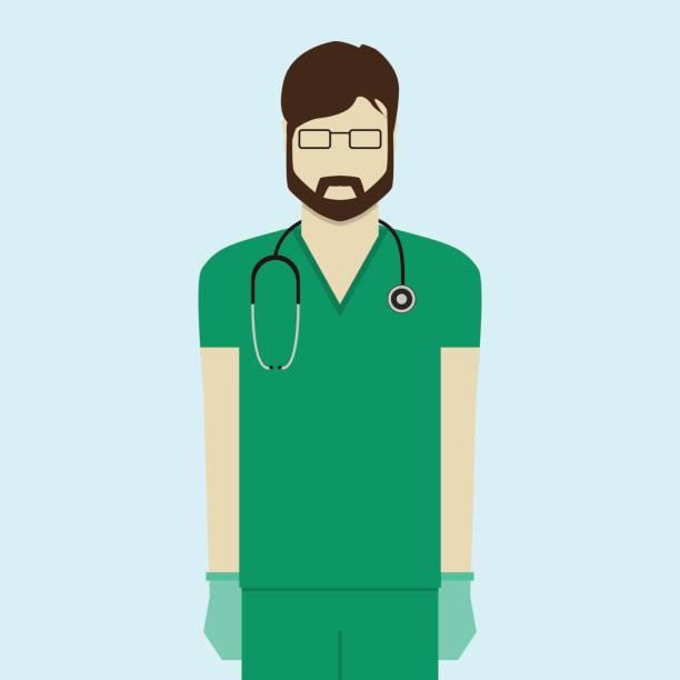 Doctor flat design Doctor flat design medico stock illustrations