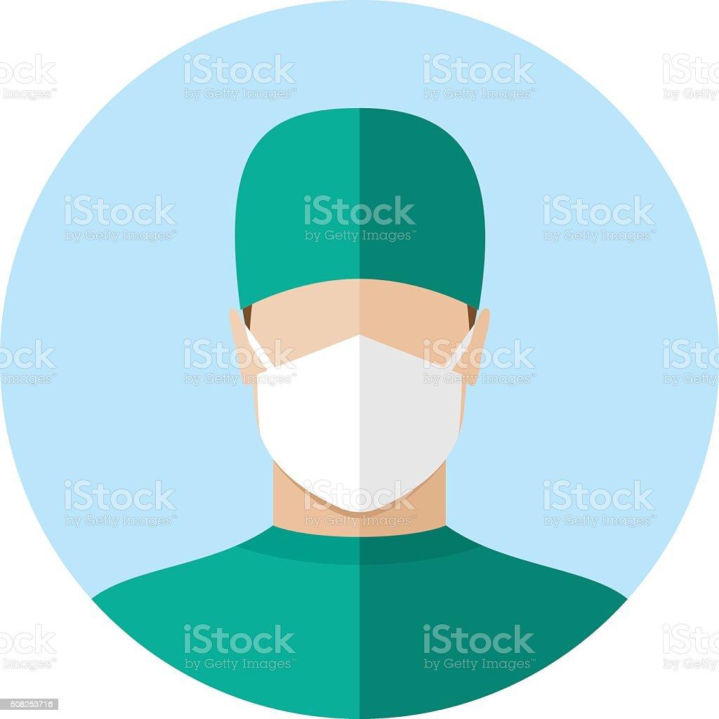 Doctor flat style icon vector art illustration