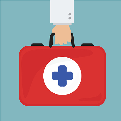 doctor hand holding healthcare briefcase
