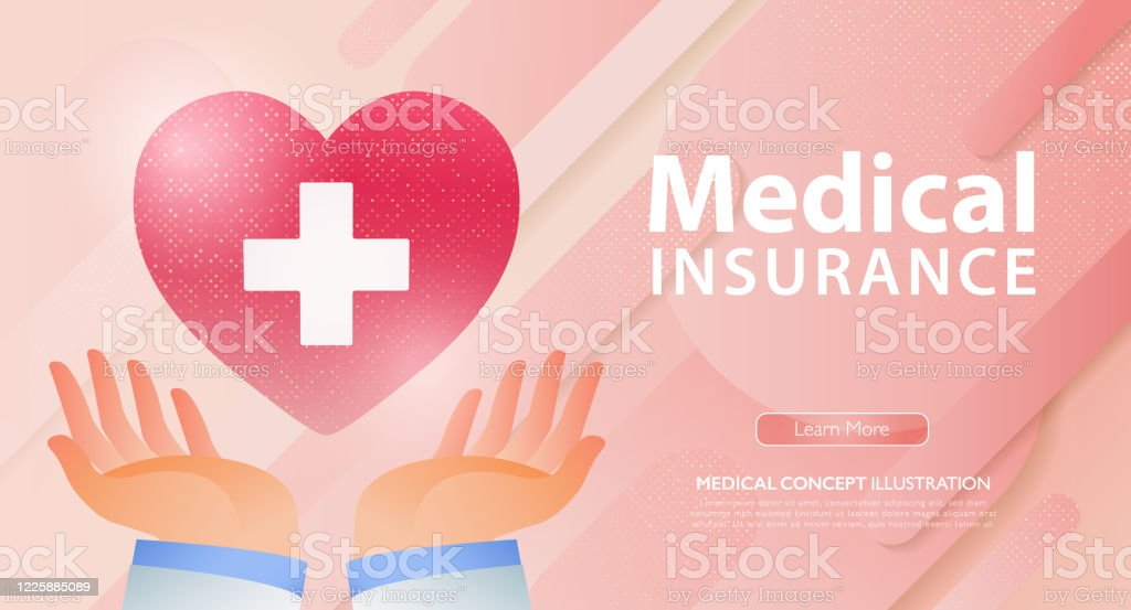 Doctor Hands Holding Red Heart With White Cross Healthcare Medical And Life Insurance Business Concept Banner Template Vector Illustration Stock Illustration Download Image Now Istock