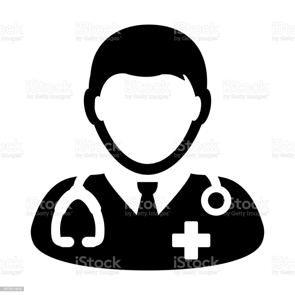 Doctor icon vector medical consultation male physician person doctor icon vector medical consultation male physician person avatar with stethoscope and cross symbol glyph pictogram buycottarizona Images