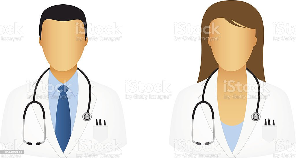 Doctor icons vector art illustration