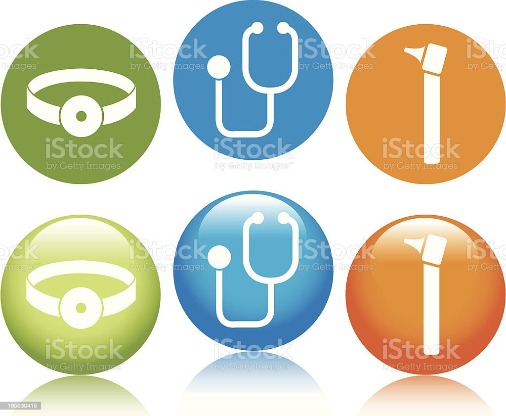 Doctor Icons royalty-free stock vector art