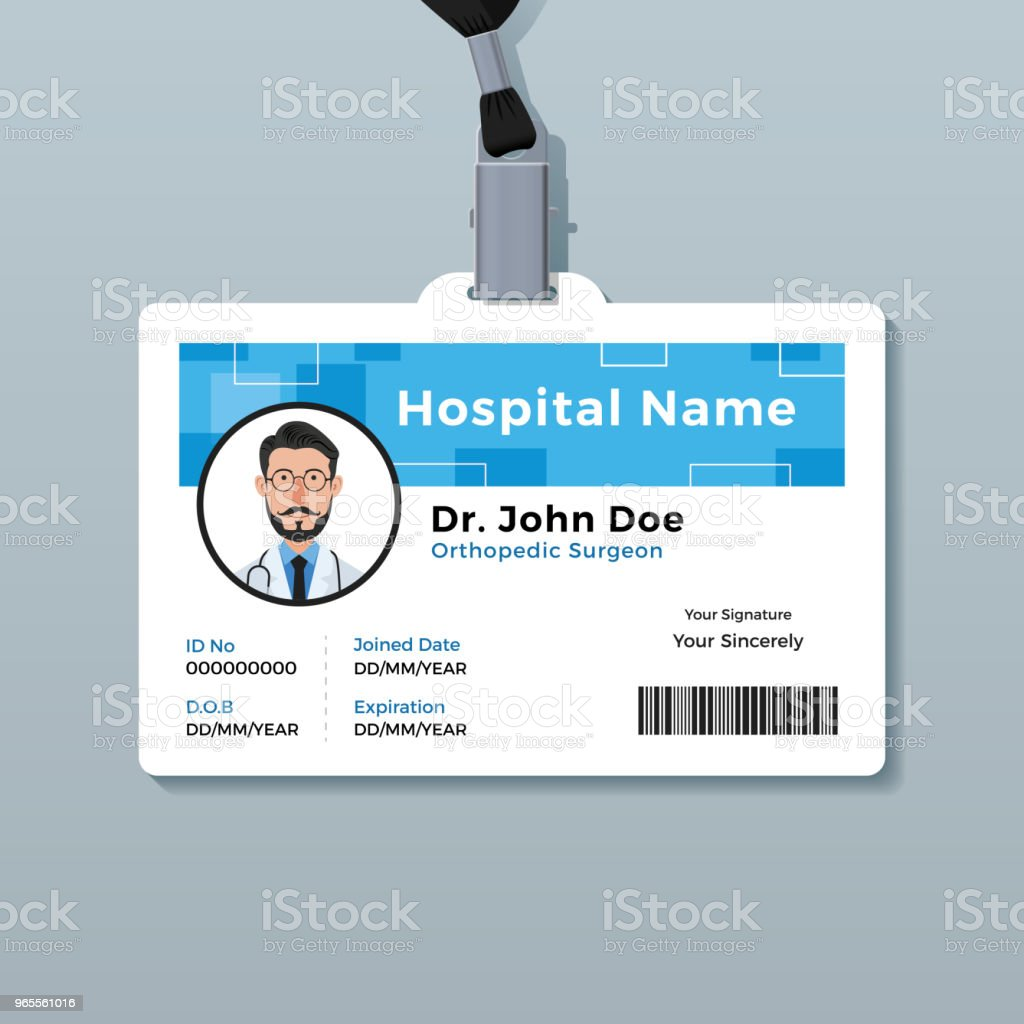hospital id badge template - badge card template images professional report template word