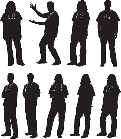 doctor silhouettes stock illustrations