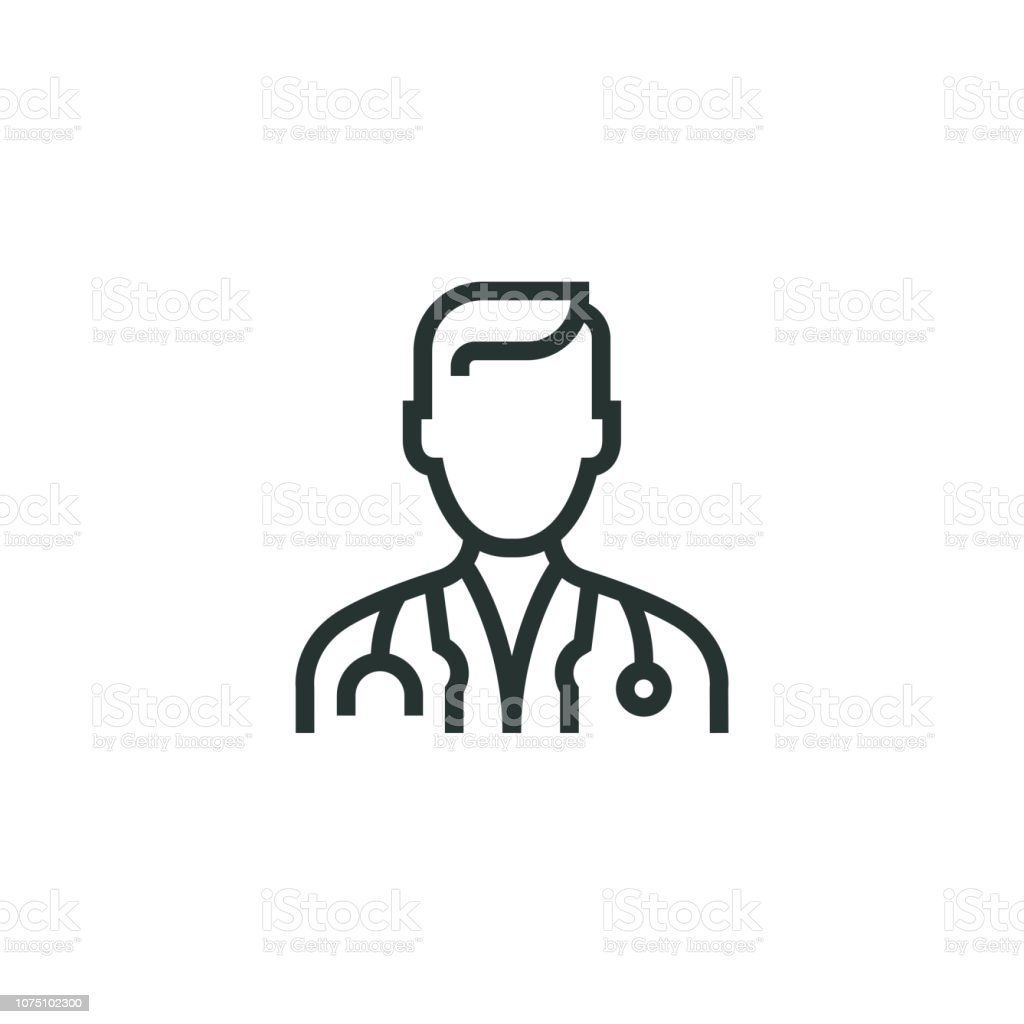Doctor Line Icon Doctor Line Icon Adult stock vector