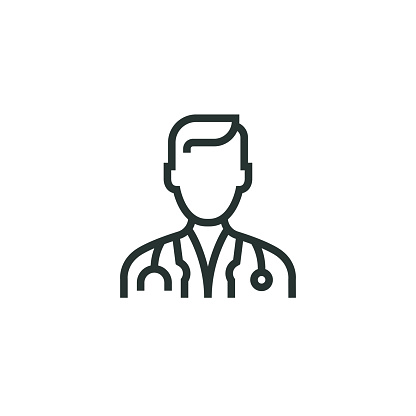 Doctor Line Icon Stock Illustration - Download Image Now