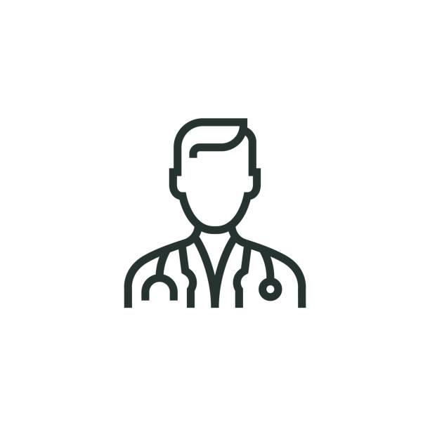 ilustrações, clipart, desenhos animados e ícones de ícone de linha de médico - doctors