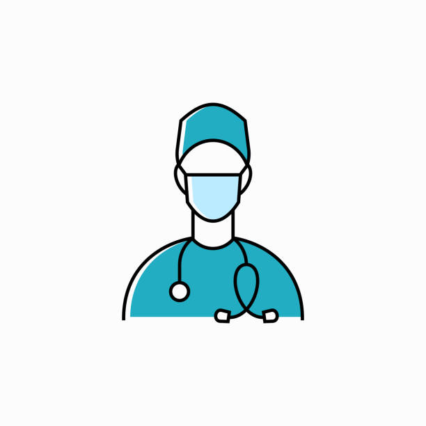 醫生線向量圖示 - surgeon 幅插畫檔、美工圖案、卡通及圖標