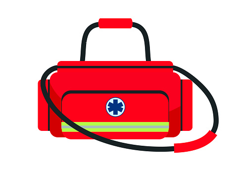 Doctor medical bag isolated on white background