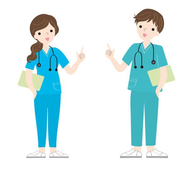 doctor nurse medical worker full body vector illustration on white background doctor nurse medical worker full body vector illustration on white background male nurse stock illustrations