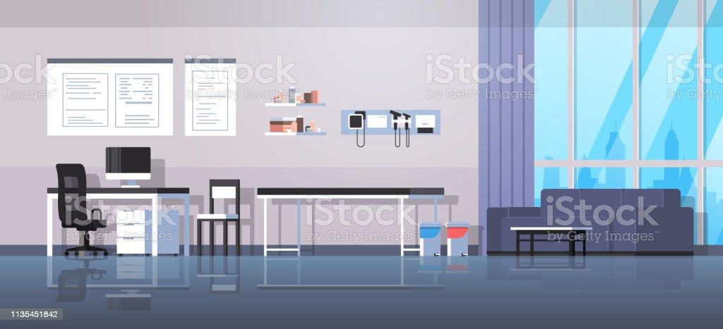 Médecin Bureau Salle De Travail Chambre Intérieur Moderne Hôpital Clinique  Cabinet Intérieur Vide Aucun Peuple Horizontal