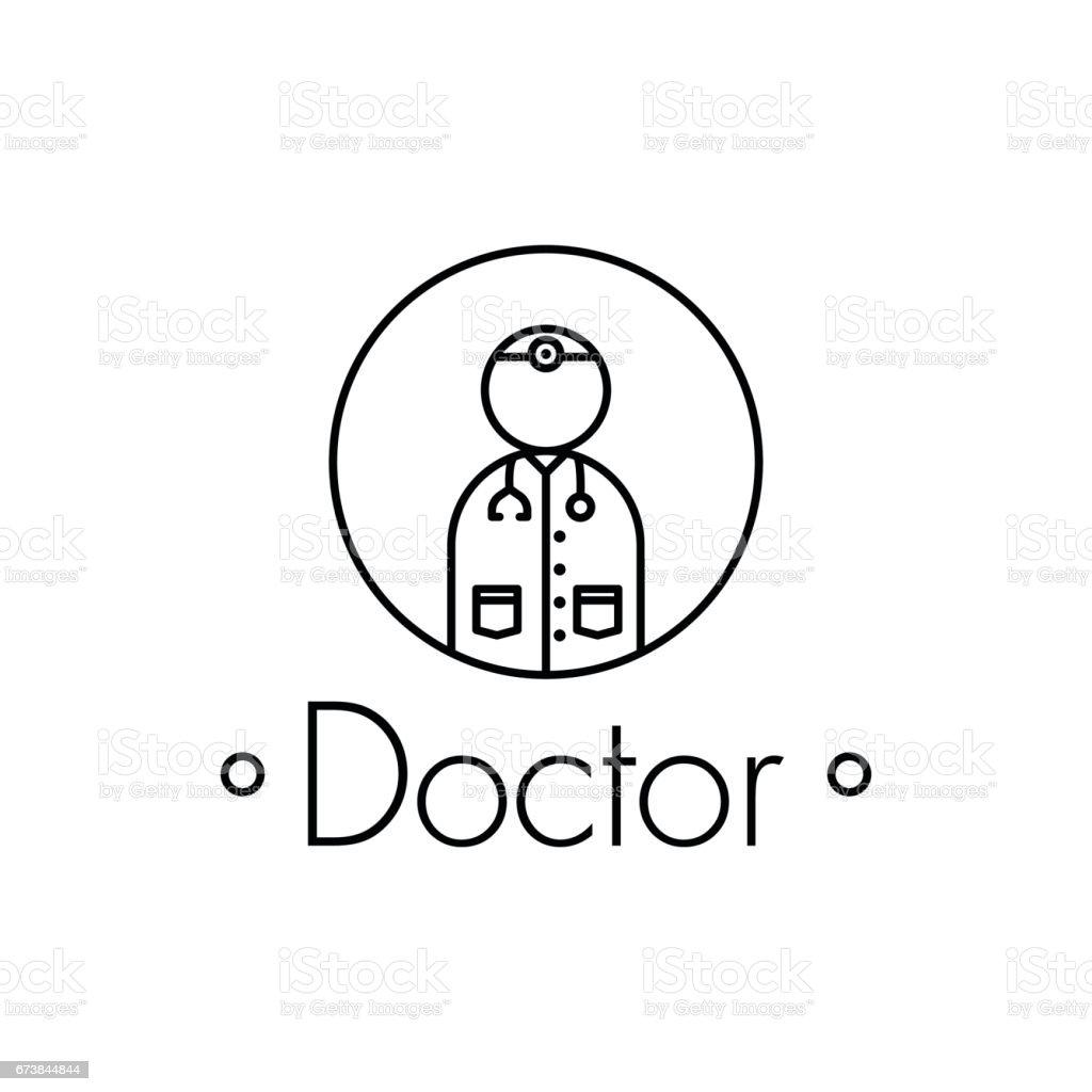Icono de esbozo médico sobre fondo blanco - ilustración de arte vectorial
