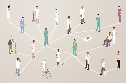Doctor Patient Network Illustration