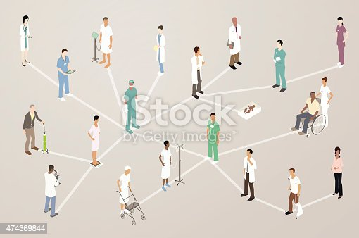Doctor Patient Network Illustration Stock Vector Art & More Images of 2015 474369844
