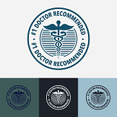 istock Doctor recommended medical badge 1319305200