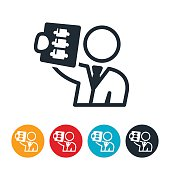 istock Doctor Reviewing X-ray Icon 585305226