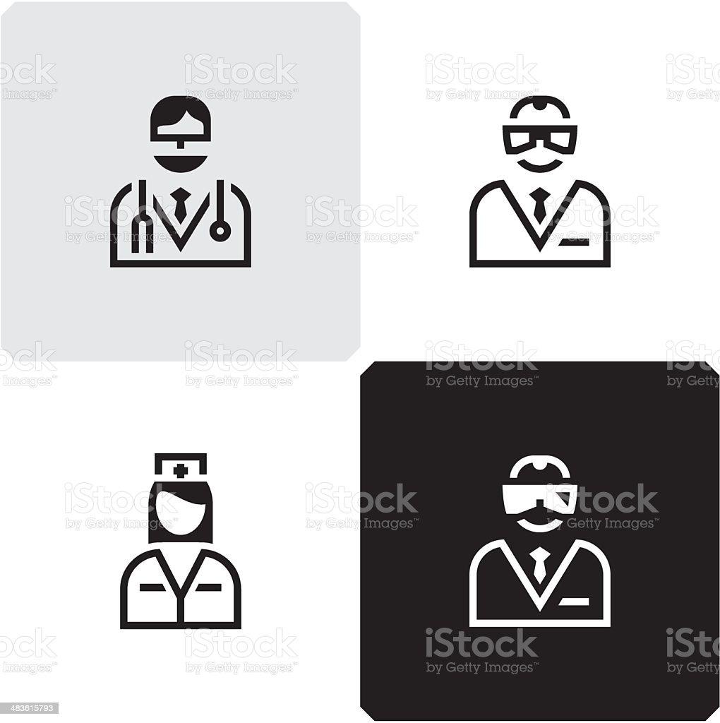 Doctor. Scientist. Nurse. vector art illustration