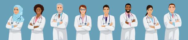 stockillustraties, clipart, cartoons en iconen met doctor set - doctor