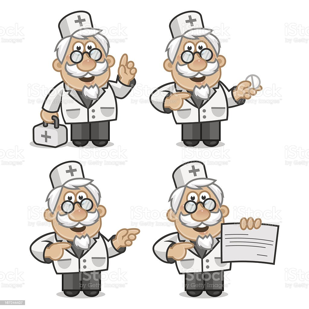 Doctor shows and tells royalty-free stock vector art