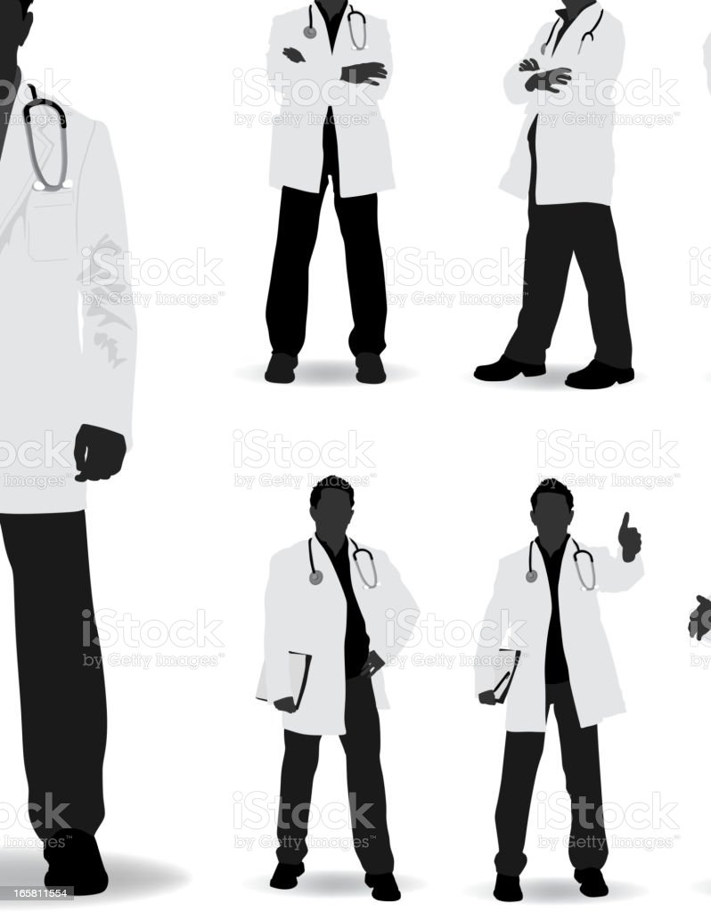 doctor silhouette stock vector art amp more images of adult