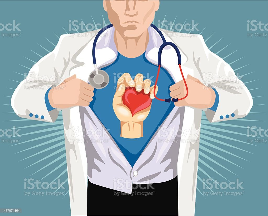Doctor superhero. Vector flat illustration vector art illustration