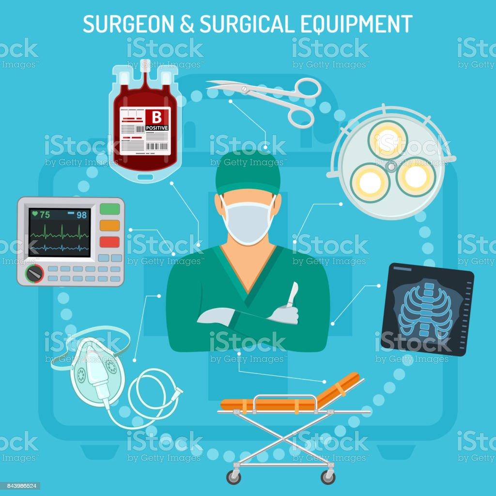 doctor surgeon concept vector art illustration