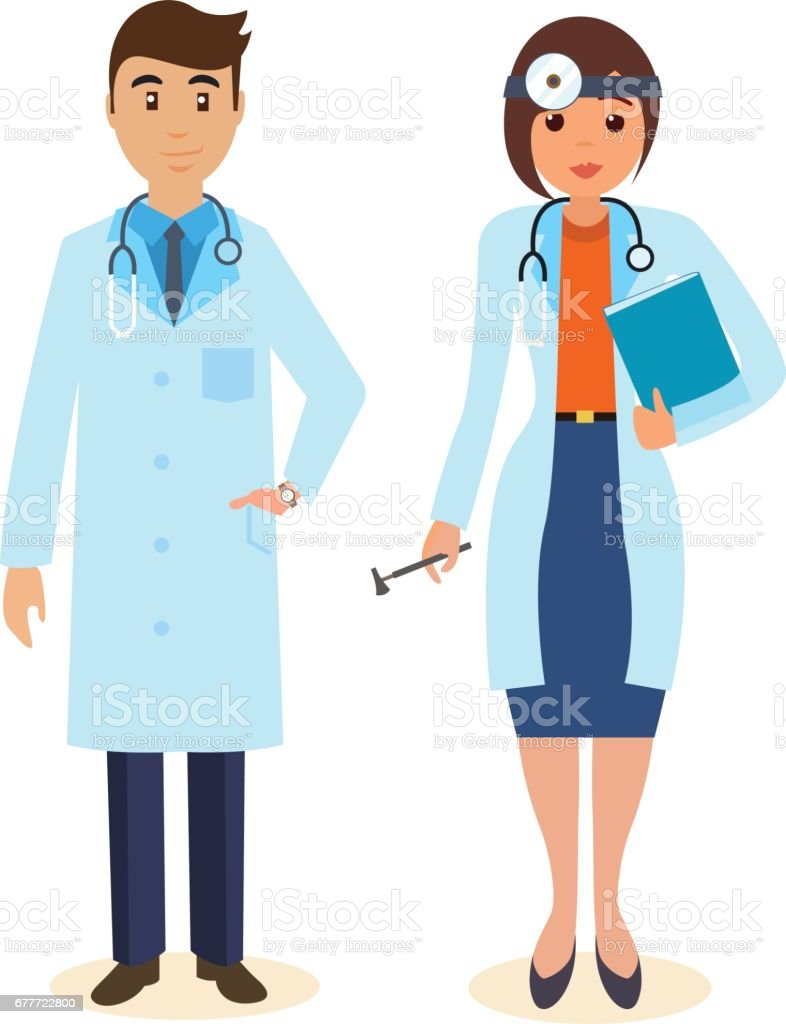 Doctor Surgeon In Gown Ent With Tools And Research Results Stock ...