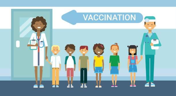 illustrations, cliparts, dessins animés et icônes de vaccination de médecin de l'hôpital pour enfants maladie prévention vaccination medical health care service médecine bannière - vaccin enfant