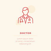 Doctor Vector Icon, Stock Illustration