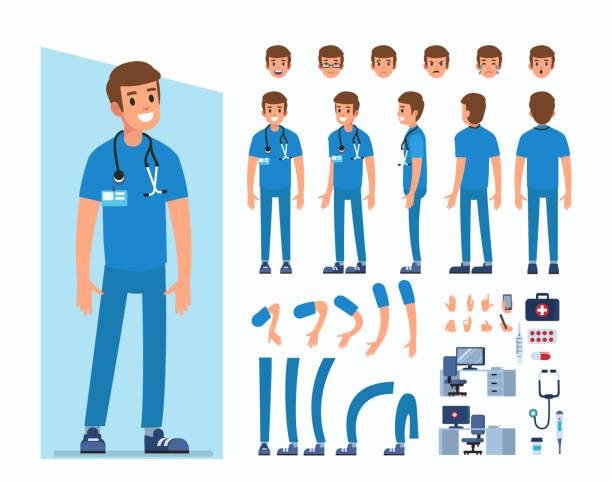 医師 - 救急救命士点のイラスト素材/クリップアート素材/マンガ素材/アイコン素材