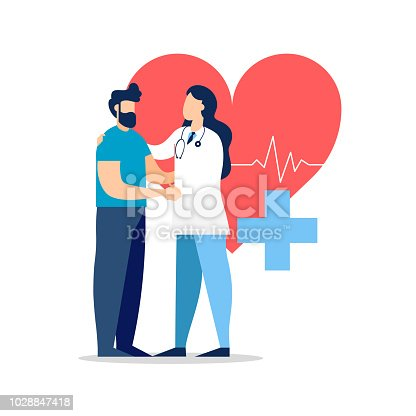 istock Doctor visit with patient for medicine concept 1028847418