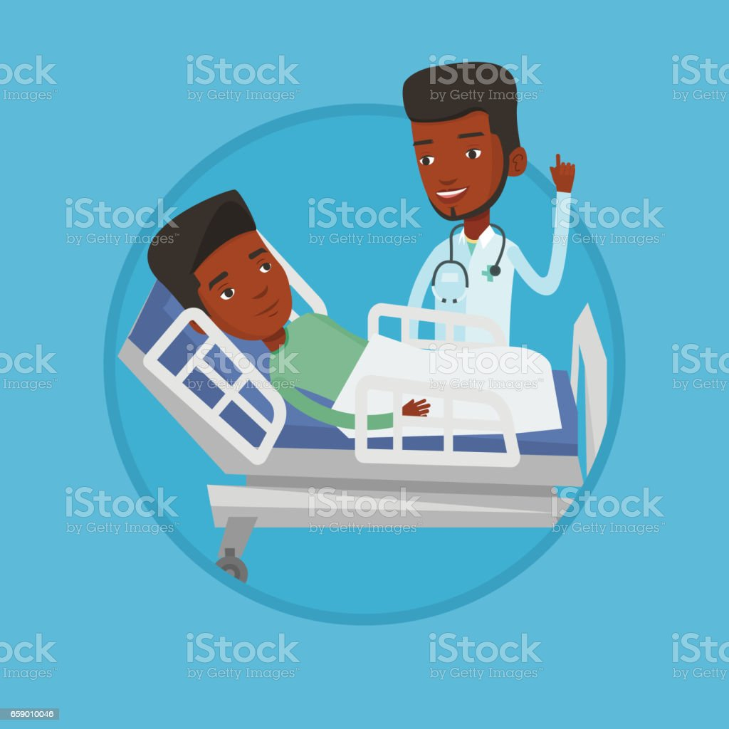 Doctor visiting patient vector illustration royalty-free doctor visiting patient vector illustration stock vector art & more images of biomedical illustration