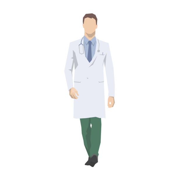 醫生走, 被隔絕的向量例證。醫療平面設計特性 - surgeon 幅插畫檔、美工圖案、卡通及圖標