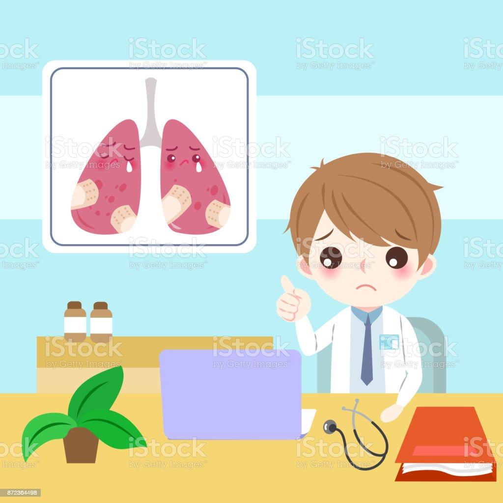 原発性肺癌医師 イラストレーションのベクターアート素材や画像を多数
