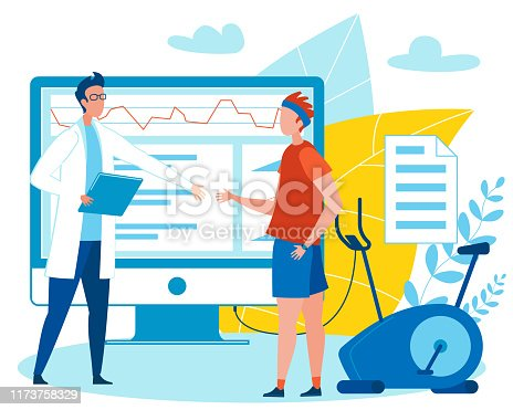 istock Doctor with Patient, Analysing Health Indicators. 1173758329