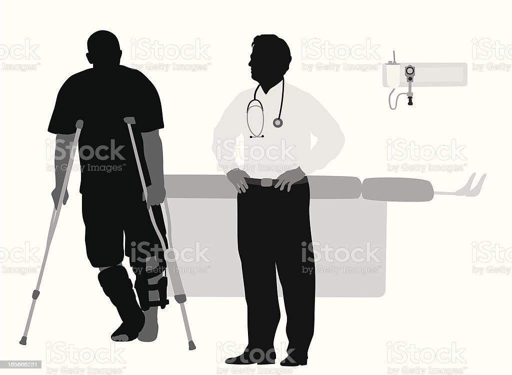 Doctor'n Patient Vector Silhouette vector art illustration
