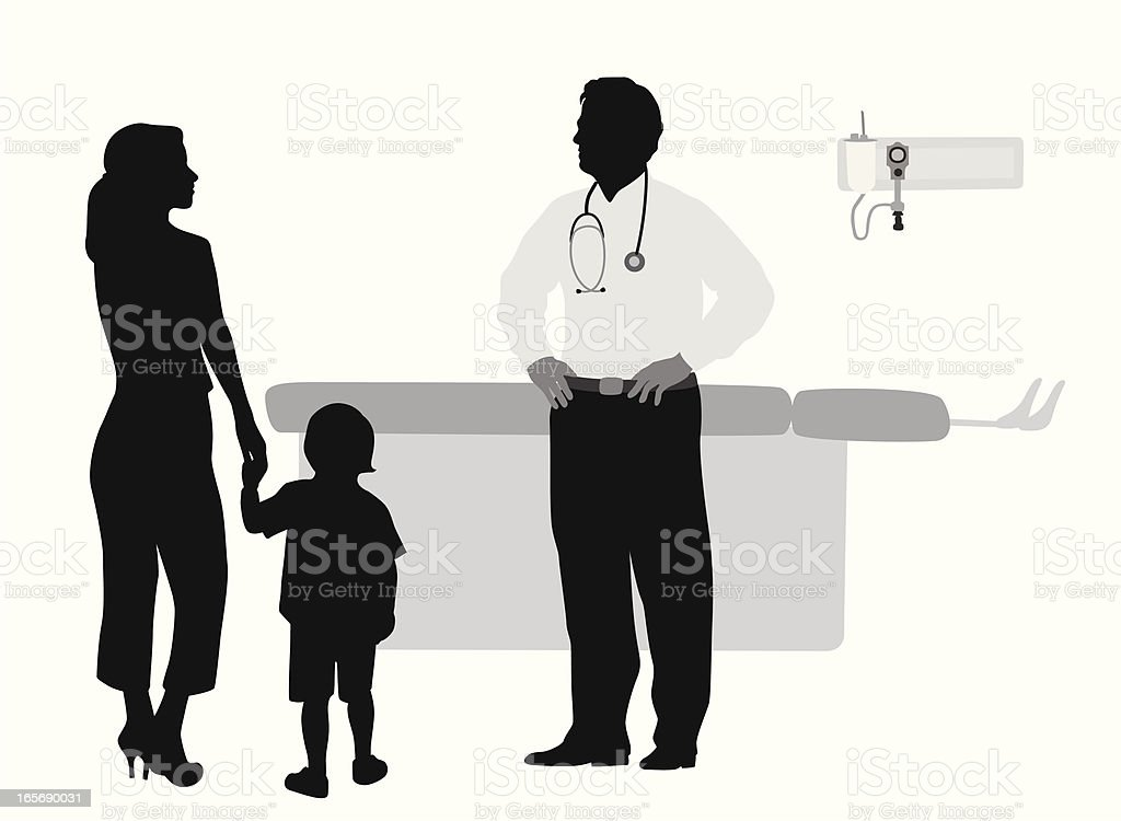 Doctor'n Patients Vector Silhouette royalty-free doctorn patients vector silhouette stock vector art & more images of adult