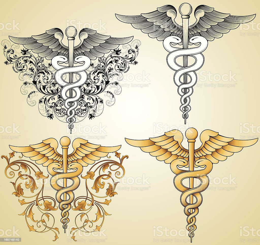 Doctors Caduceus royalty-free stock vector art