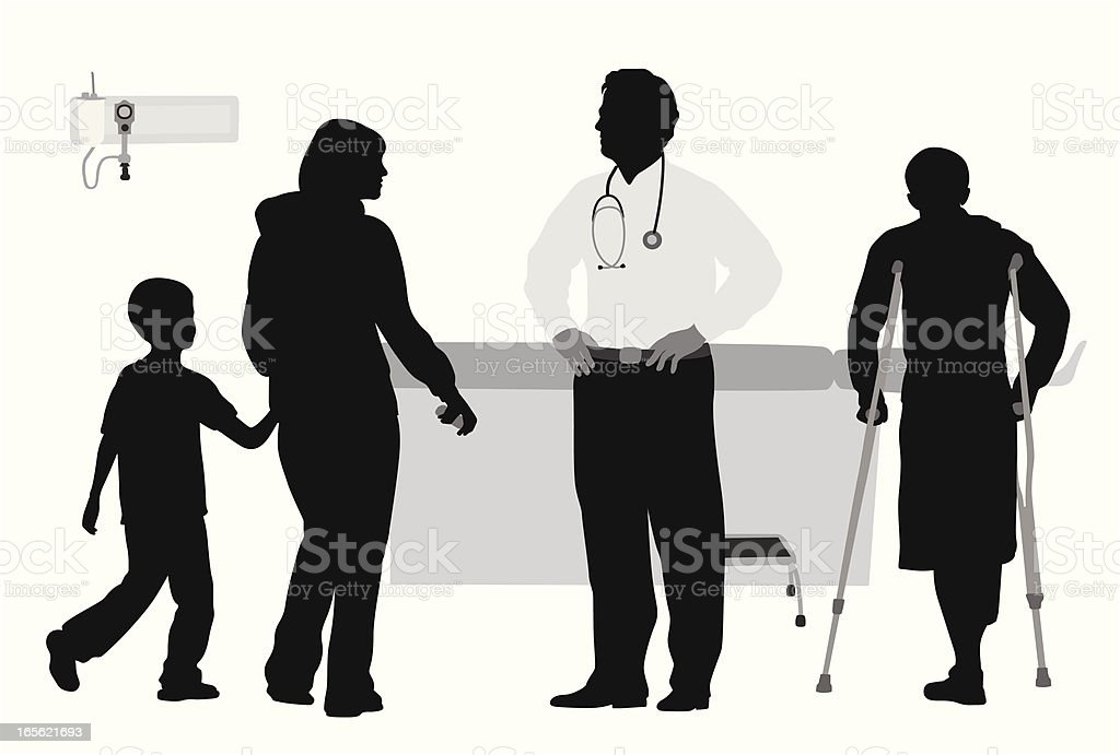 Doctor's Clinic Vector Silhouette royalty-free stock vector art
