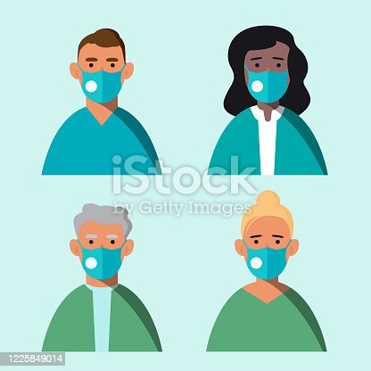 624717328 istock photo Doctors dressed in medical mask 1225849014