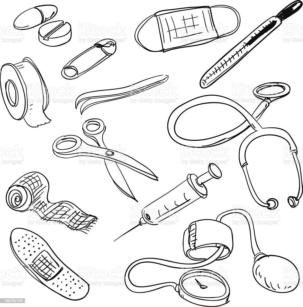 Рисунок медицинские предметы