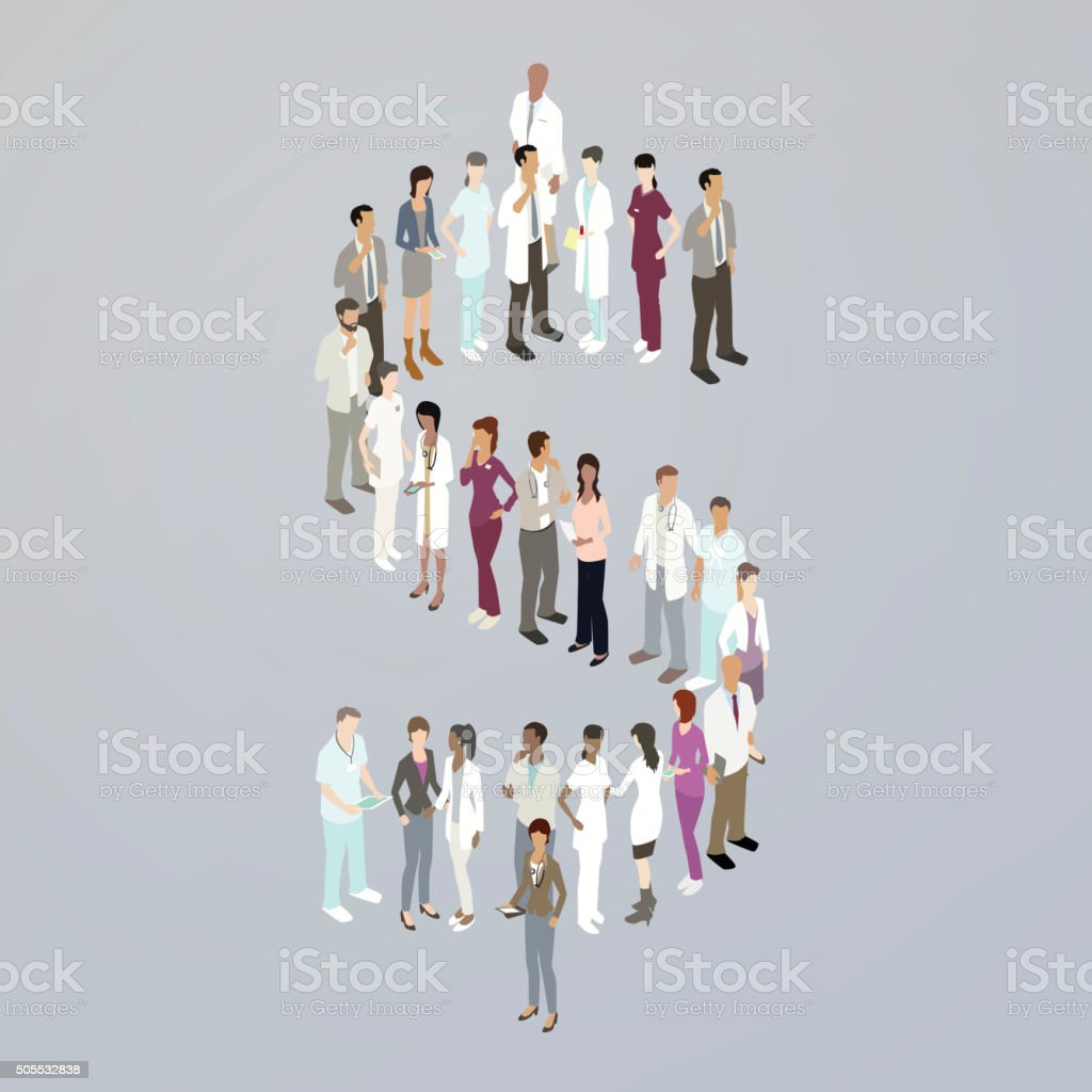 Doctors forming a dollar sign royalty-free doctors forming a dollar sign stock vector art & more images of currency