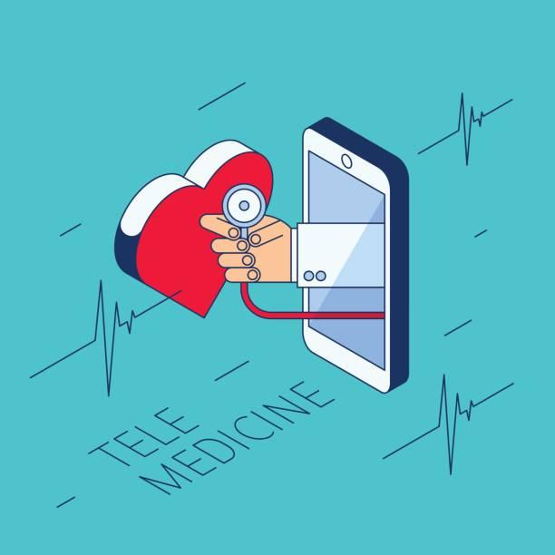 bildbanksillustrationer, clip art samt tecknat material och ikoner med läkarens hand är holding stetoskop och kontrollera hjärta puls. - kardiolog