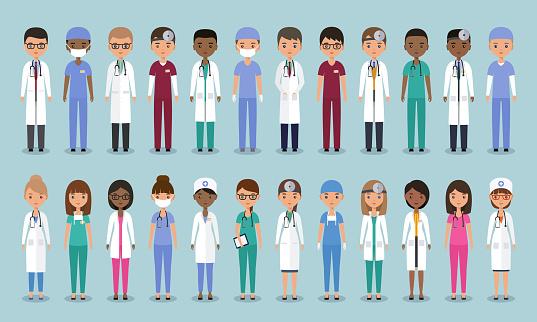醫生在平面設計動畫醫學字元向量插圖向量圖形及更多人圖片