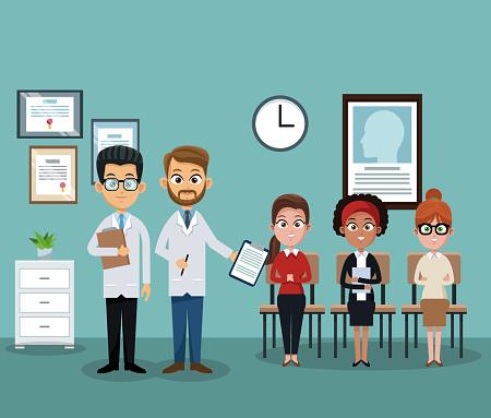 Doctors office cartoon