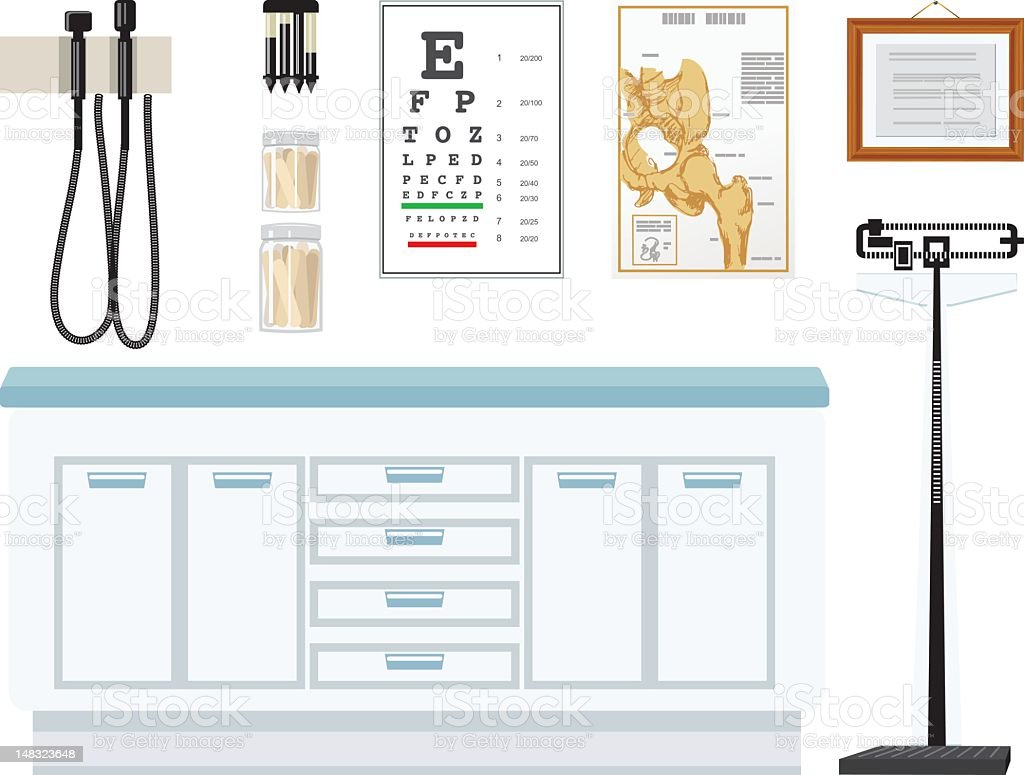 Doctor's Office Elements royalty-free doctors office elements stock vector art & more images of cut out